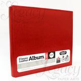 "12""x 12"" Post Bound Classic Leather Album Red"