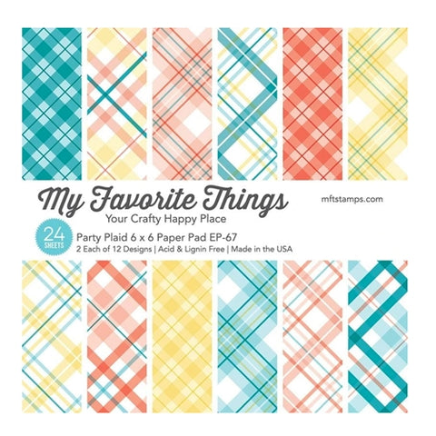 My Favorite Things Party Plaid 6x6 Paper Pad