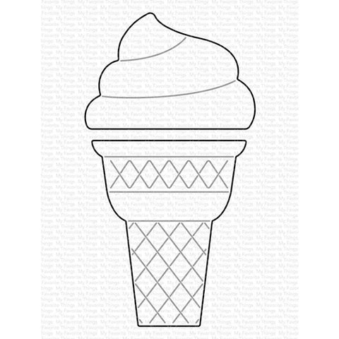My Favorite Things Ice Cream Cone Die