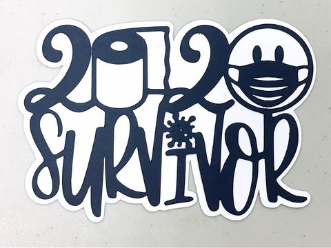 Covid-19 Diecut Collection - 2020 Survivor (Navy)