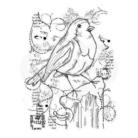 Woodware Frosty Robin Stamp