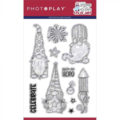 PhotoPlay Gnome for the Holidays 4th of July Stamp/Die Bundle