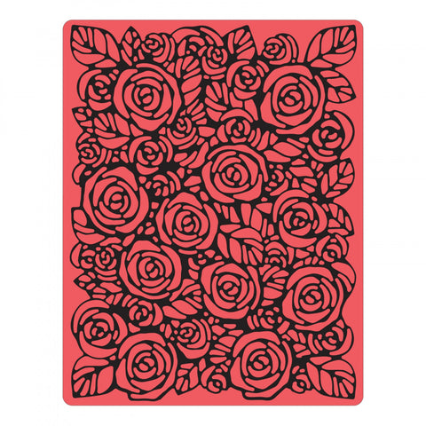 Sizzix/Tim Holtz Texture Fades Embossing Folder - Roses