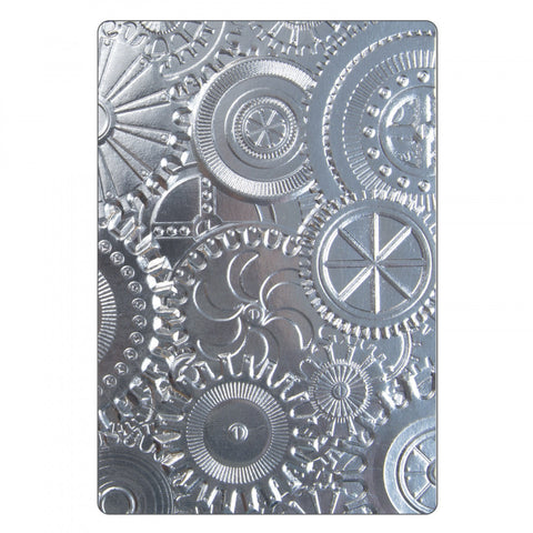 Sizzix/Tim Holtz 3D Texture Fades Embossing Folder - Mechanics