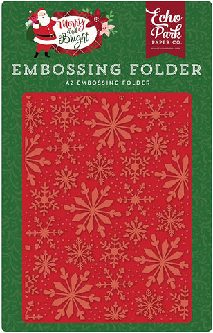 Echo Park Frosted Snowflakes Embossing Folder