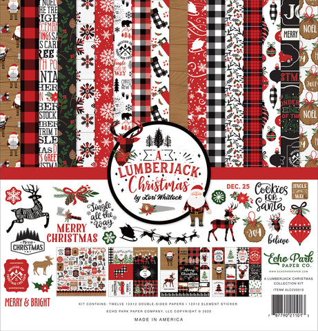 Echo Park Lumberjack Christmas Collection12x12 Paper Pack