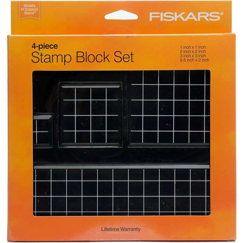 Fiskars Acrylic Stamp Block Set