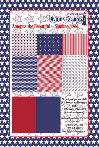 Divinity Designs Slimline 6 x 9 Paper Pad - America The Beautiful