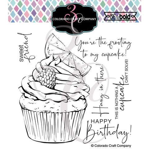 Colorado Craft Company Citrus Berry Cupcake Stamps