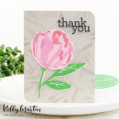 The Stamping Market Blooming Peony Stamp & Die Bundle