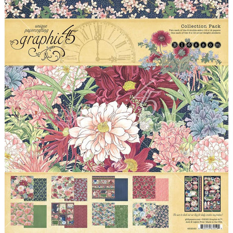 Graphic 45 Blossoms 12 x 12 Collection Paper Pack