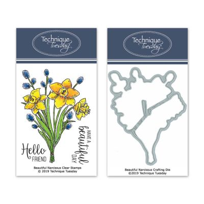 Technique Tuesday Beautiful Narcissus Stamp/Die Bundle
