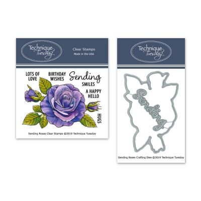 Technique Tuesday Sending Roses Stamp/Die Bundle
