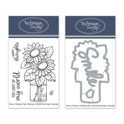 Technique Tuesday Sunny Flowers Stamp/Die Bundle