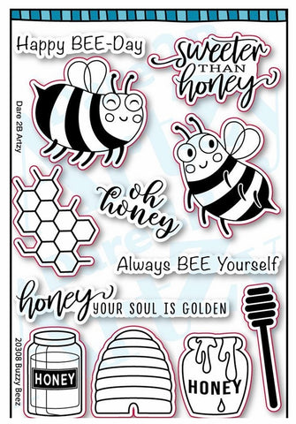0 Dare 2B Artzy Buzzy Beez Stamps - NEW!