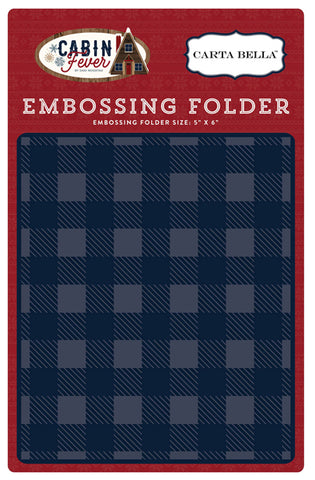 Carta Bella Small Buffalo Plaid Embossing Folder