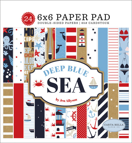 Carta Bella Deep Blue Sea 6x6 Paper Pad
