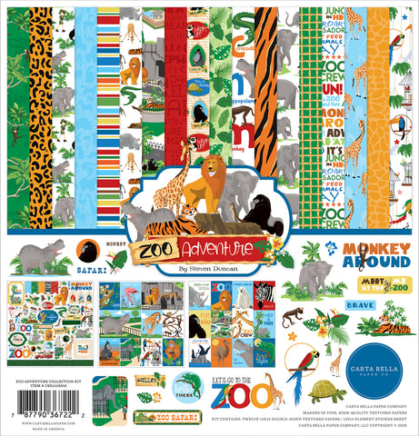 Echo Park Zoo Adventure Paper Pack