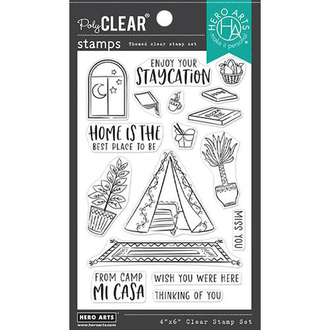 Hero Arts Camp Mi Casa Stamp & Die Bundle