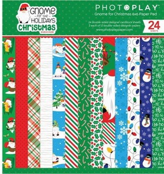 PhotoPlay Gnome for the Holidays:  6x6 Christmas Paper Pad