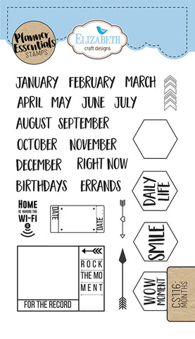 Elizabeth Craft Designs Months Stamps