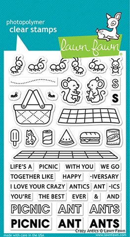 Lawn Fawn Crazy Antics Stamp and Die Bundle