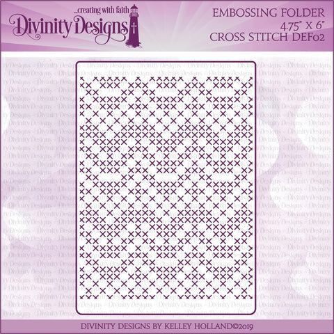 Divinity Designs Cross Stitch Embossing Folder