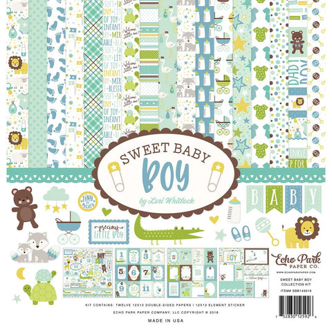 Echo Park Sweet Baby Boy Collection Kit