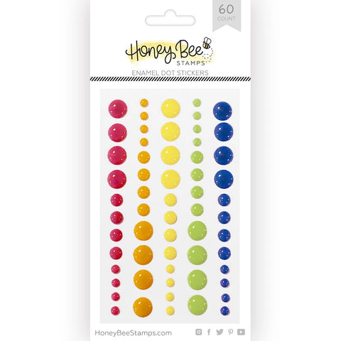 Honey Bee Enamel Dots - Over The Rainbow