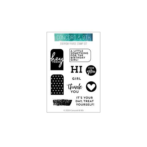 Concord & 9th Everyday Purse Builder Stamp & Die Bundle