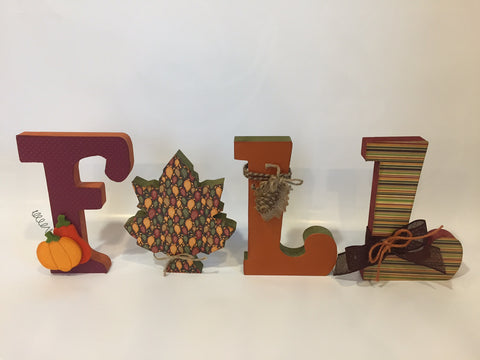 Adult Class: 9-Sept. 14 - FALL Letters