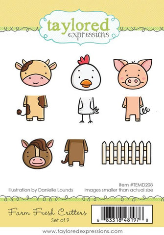 Taylored Expressions Farm Fresh Critters Stamps & Dies Bundle