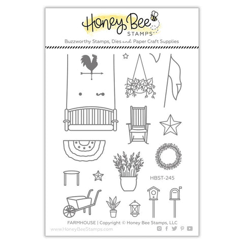 Honey Bee Farm House Add-On Stamps