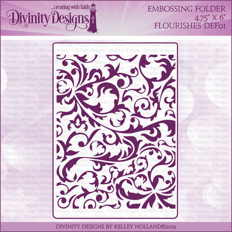 Divinity Designs Flourishes Embossing Folder