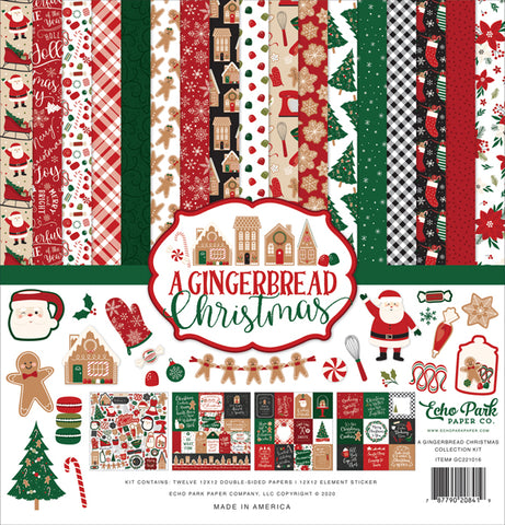 "Echo Park A Gingerbread Christmas Collection 12""x 12"" Paper Pack"