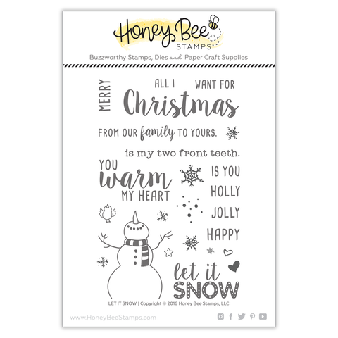 Honey Bee Let It Snow Stamp & Die Bundle