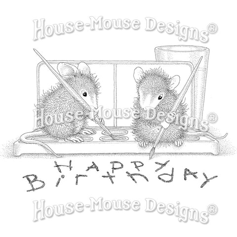 Stampendous House Mouse Stamp - Watercolor Wish