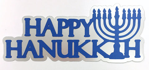 Happy Hanukkah with Menorah