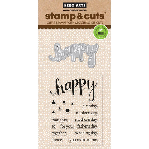 Hero Arts Happy Stamp & Cut