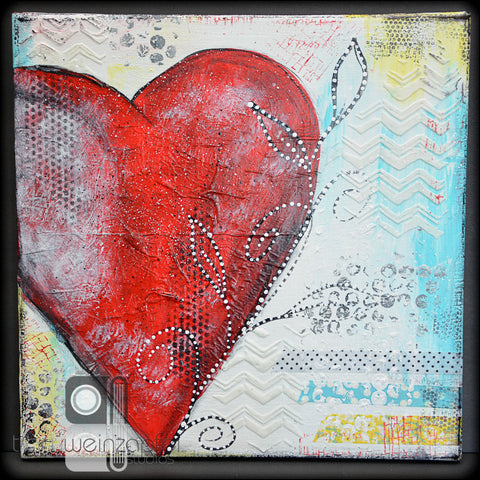 "Adult Class: 8 - Aug. 12  2:00-4:30 Mixed Media #2  - 12x12"" Painted Canvas"