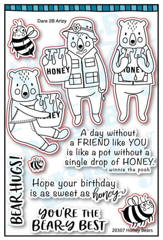 Dare 2B Artzy Honey Bear Stamps
