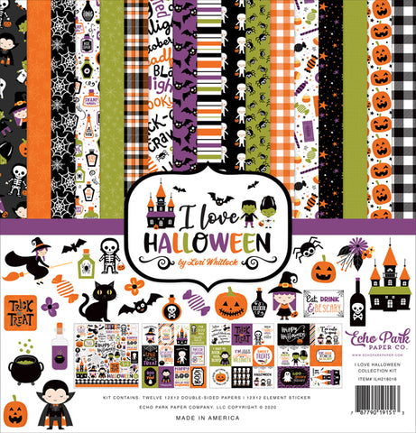 Echo Park I Love Halloween Collection12x12 Paper Pack