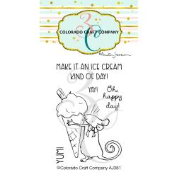 Colorado Craft Company Ice Cream Mini Stamp/Die Bundle