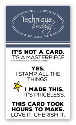 Technique Tuesday It's a Masterpiece Stamp