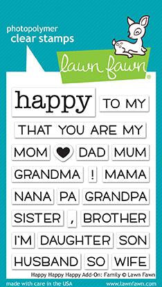 Lawn Fawn Happy Happy Happy Add-On: Family Stamp & Die Bundle