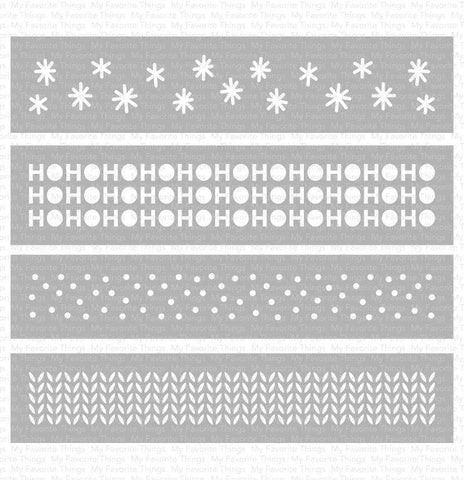 My Favorite Things Winter Stencil Strips (4 pk)