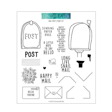 Concord & 9th Mail Drop Stamp & Die Bundle
