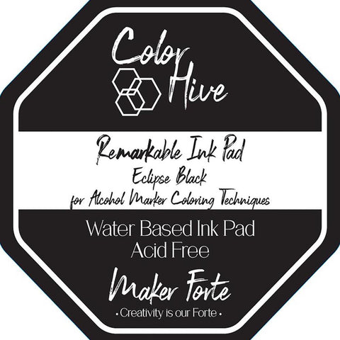 Maker Forte Color Hive ReMARKable Ink Pad - Eclipse Black
