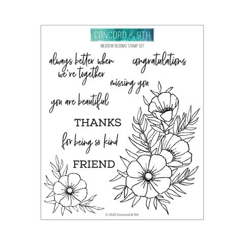 Concord & 9th Meadow Blossoms Stamp & Die Bundle