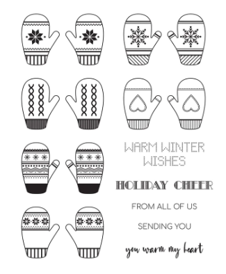 Fun Stampers Journey Smitten for Mittens Stamp